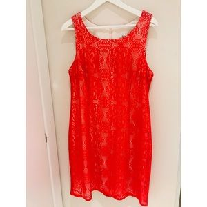 Red Midi Dress Size L NEW